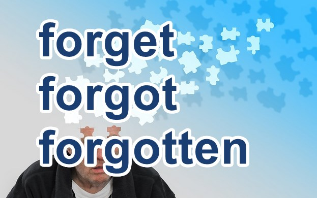 forget forgot forgottenの使い分け