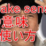 make sense, doesn't make senseの意味と使い方