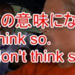 I don't think so は Yes, No どっち?意味が真逆になる時